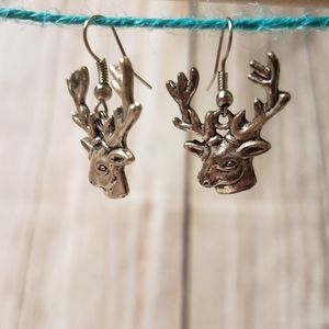Rustic Deer head earrings